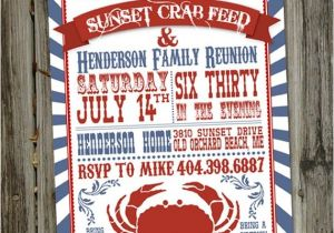 Seafood Boil Party Invitations Crab Feed or Seafood Boil Printable Party Invitation