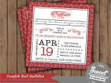 Seafood Boil Party Invitations Crawfish Boil Invitation Birthday Party Couple by 2sweetteas
