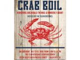Seafood Boil Party Invitations Personalized Seafood Boil Invitations