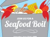 Seafood Boil Party Invitations Seafood Boil Clam Lobster Crab Bake Invitation Summer