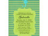 Seahorse Baby Shower Invitations Green Seahorse Baby Shower Invitation