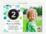Second Birthday Invitation Boy 2nd Birthday Invitation Boy Blue Green Silver Glitter Second
