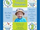 Second Birthday Invitation Boy Boy S Cupcake 1st Birthday Invitation Cute S Blue Fun