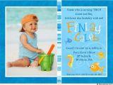 Second Birthday Invitation Boy Colorful Fish Birthday Invitations Seahorse Starfish