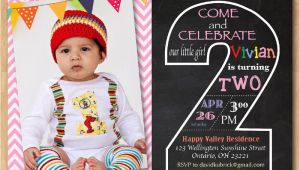 Second Birthday Invitation Boy Second Birthday Invitation Chalkboard 2nd Birthday Invite