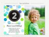 Second Birthday Party Invitations 2nd Birthday Invitation Boy Blue Green Silver Glitter Second