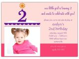 Second Birthday Party Invitations Birthday Cake Girl Photo Second Birthday Invitations