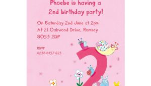 Second Birthday Party Invitations Personalised Second Birthday Party Invitations by Made by