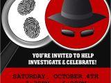 Secret Agent Party Invitations Free Spy Party Games Secret Agent Birthday theme