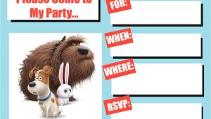 Secret Life Of Pets Party Invitations Musings Of An Average Mom the Secret Life Of Pets Invitation