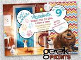 Secret Life Of Pets Party Invitations Sale Pets Movie theme Birthday Invitation Custom