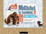 Secret Life Of Pets Party Invitations Secret Life Of Pets Invitation Secret Life Of Pets Custom
