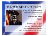 Send Off Party Invitation Card Patriotic Photo Military Send Off Party Invitation