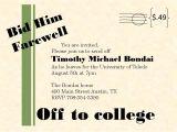 Send Off Party Invitation Message College Send Off Party Invitation Wording Invitation