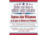 Send Off Party Invitation Message Military Deployment Send Off Party Invitation Military