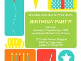 Send Party Invitations Online Colorful Childrens Party Free Birthday Invitation