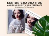 Senior Graduation Invitations 2015 Free Graduation Announcement Templates for Photoshop
