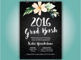 Senior Graduation Party Invitations Graduation Announcement Grad Party 2016 Grad Invite 5×7
