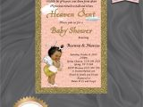 Sent From Heaven Baby Shower Invitations Heaven Sent Baby Shower Invitation Sent From Heaven Little