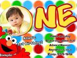 Sesame Street 1st Birthday Photo Invitations Elmo 1st Birthday Party Invitations Dolanpedia