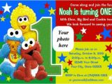 Sesame Street 1st Birthday Photo Invitations Elmo Sesame Street Birthday Party Invitations Drevio