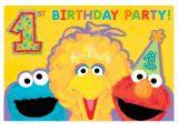 Sesame Street 1st Birthday Photo Invitations Sesame Street 1st Birthday Invitations Birthdayexpress Com