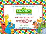 Sesame Street 1st Birthday Photo Invitations Sesame Street 2nd Birthday Invitations Best Party Ideas