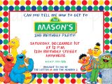 Sesame Street 1st Birthday Photo Invitations Sesame Street Birthday Invitation Elmo Birthday Invitation