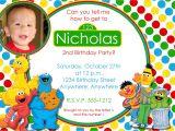 Sesame Street 1st Birthday Photo Invitations Sesame Street Birthday Invitation