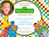 Sesame Street Birthday Party Invitations Personalized Personalized Sesame Street Birthday Invitations