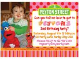 Sesame Street Customized Birthday Invitations Girly Pink Elmo Sesame Street Birthday Invitation Custom