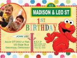 Sesame Street Customized Birthday Invitations Items Similar to Custom Birthday Invitations Sesame