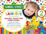 Sesame Street Customized Birthday Invitations Personalized Sesame Street Birthday Invitation Sample