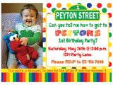 Sesame Street Customized Birthday Invitations Sesame Street Birthday Invitation Primary Colors Custom