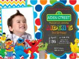 Sesame Street Customized Birthday Invitations Sesame Street Birthday Party Invitation by Prettypaperpixels
