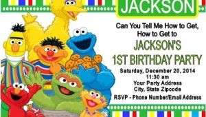 Sesame Street Customized Birthday Invitations Sesame Street Birthday Party Invitations Custom