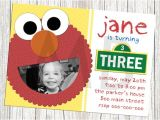 Sesame Street Customized Birthday Invitations Sesame Street Elmo Birthday Invitation by Mommybrain2designs