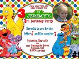 Sesame Street Party Invitations Personalized Free Printable Custom Sesame Street Birthday Invitations