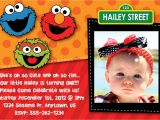Sesame Street Party Invitations Personalized Sesame Street 2nd Birthday Invitations Best Party Ideas