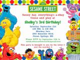 Sesame Street Party Invitations Personalized Sesame Street Birthday Invitations Birthday Party
