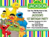 Sesame Street Party Invitations Personalized Sesame Street Birthday Party Invitations Custom