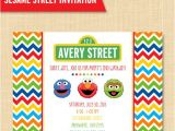 Sesame Street Party Invitations Personalized Sesame Street Style Friends Birthday Party Invitation Custom