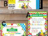 Sesame Street Party Invitations Personalized Sesame Street themed Party Invitations Personalized and