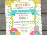 Sewing Party Invitations Cute as A button Birthday Invitation Sew Cute Birthday