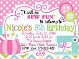 Sewing Party Invitations Sewing Birthday Party Invitation Sewing Party Invitation
