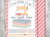 Sewing Party Invitations Sewing Party Birthday Invitation Sewing Birthday Invite