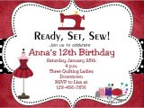 Sewing Party Invitations Sewing Party Birthday Invitation Sewing Birthday