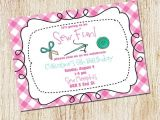 Sewing Party Invitations Sewing Party Invitation Sewing Birthday Party Gingham