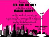 Sex and the City Bridal Shower Invitations and the City themed Bridal Shower Bachelorette by