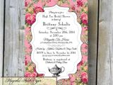 Shabby Chic Wedding Shower Invitations High Tea Bridal Shower Invitation Custom Printable High